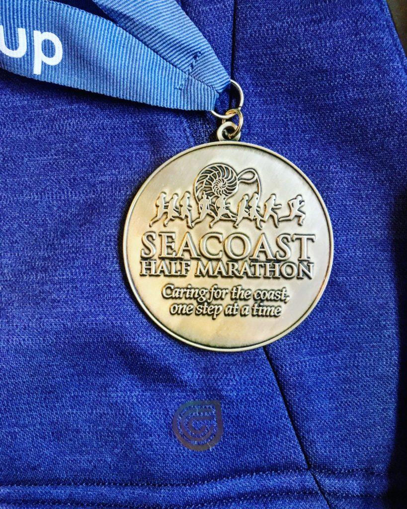 Sarah's 2017 Seacoast Half Marathon Medal