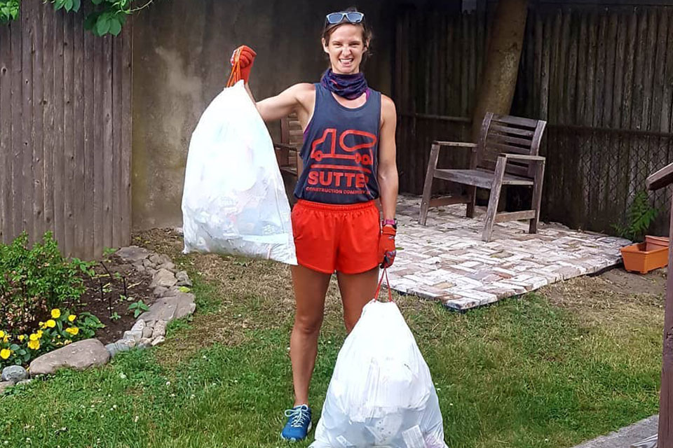 Hayley from Saucony talks trash, i.e. plogging